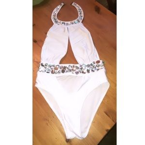 White Bedazzled Body Suit